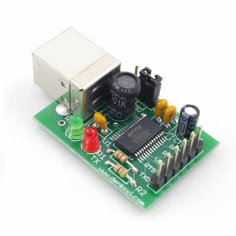 Denkovi USB to Serial UART FTDI Interface Board for Your Project [2美國直購]