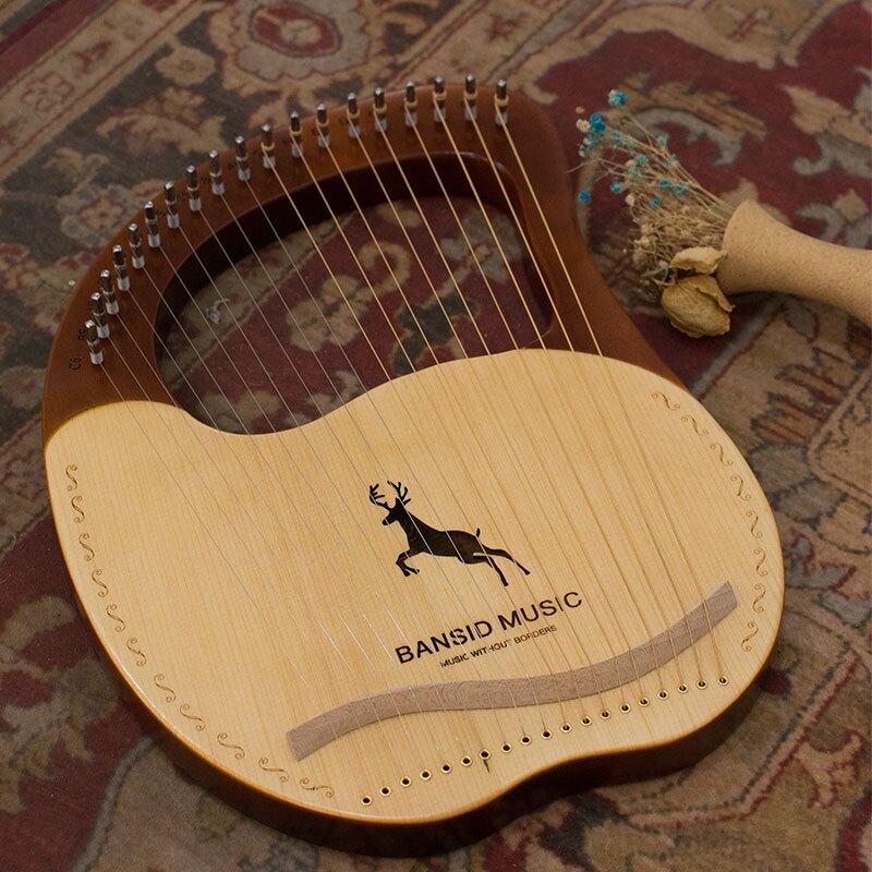 萊雅琴 班士頓單板小豎琴十弦小眾樂器便攜式七弦小型里拉琴lyre琴【MJ3673】