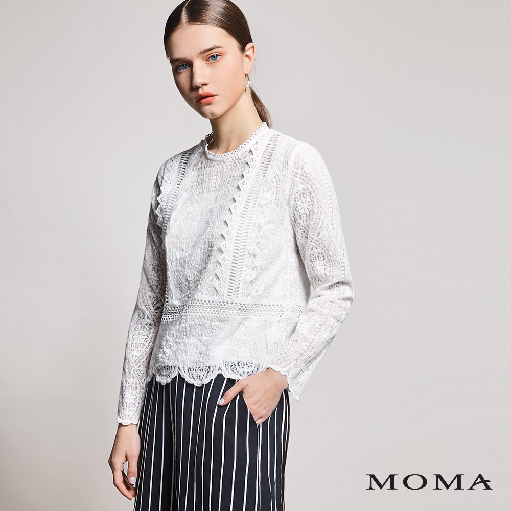MOMA(01G018)層次蕾絲上衣