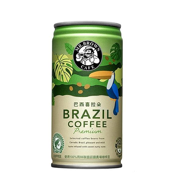【兩入組】伯朗精品咖啡-巴西喜拉朵240ml*6【愛買】
