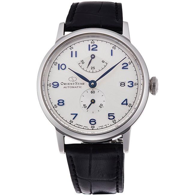 Orient 東方錶 RE-AW0004S HERITAGE GOTHIC系列 皮帶款經典復刻腕表/銀 39mm