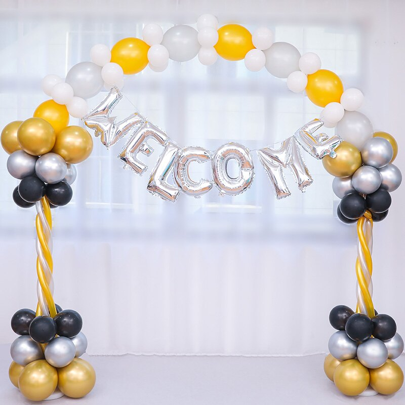 氣球拱門 兒童趴體裝扮拱門氣球套餐寶寶周歲生日派對立柱路引裝飾場景布置【MJ3737】