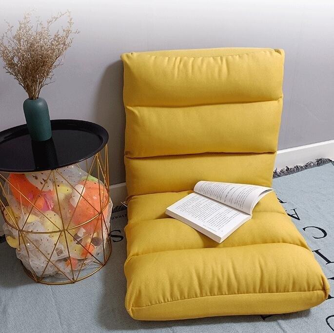 單人懶人沙發 榻榻米床上折疊椅子陽臺宿舍靠背躺椅單人小椅網紅座椅迷 限時折扣