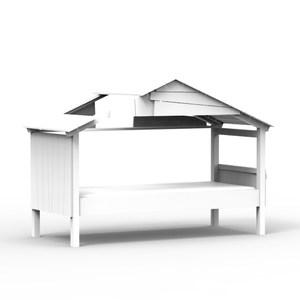 比利時 Mathy by Bols 星空樹屋單人兒童床 90x200-白色