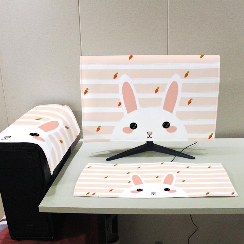 防塵蓋布 液晶顯示器鍵盤主機保護套電腦防塵罩蓋巾台式屏幕蓋布電腦套防塵【MJ3957】