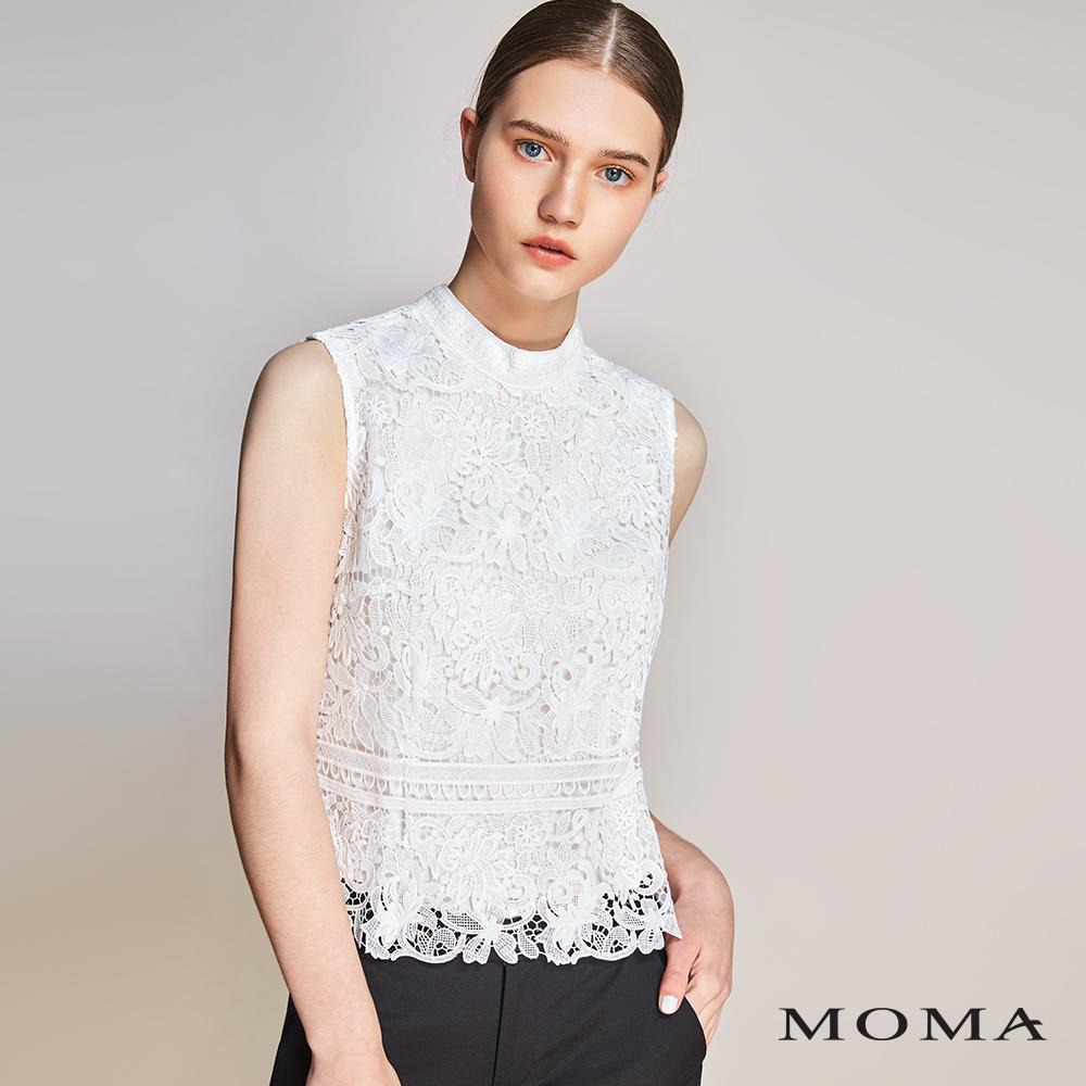 MOMA(01G004)蕾絲無袖上衣
