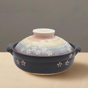 【有種創意】日本萬古燒-繪染土鍋8號-櫻之華(2.1L)