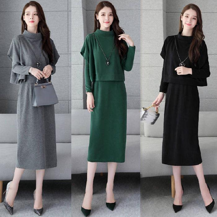 【2020韓國爆品】柔軟舒適連衣裙套裝