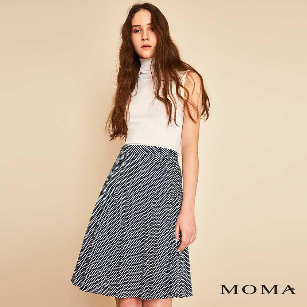 MOMA(01S053)波點打褶中裙-剩餘34號
