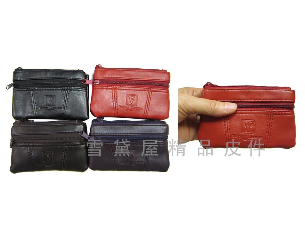 零錢包中型容量三層主袋+外袋共四層進口防水防刮皮革材質零錢鑰匙包證件包男女適用