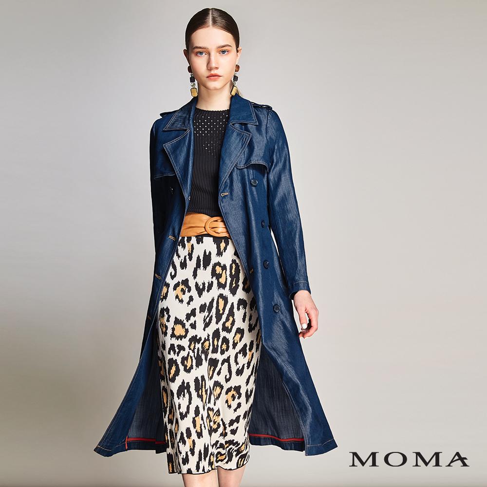 MOMA(01J004)牛仔明線風衣