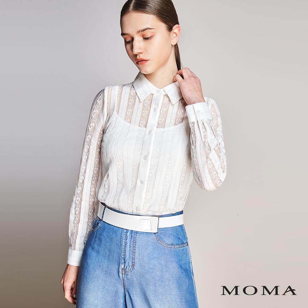 MOMA(01B006)直條蕾絲襯衫