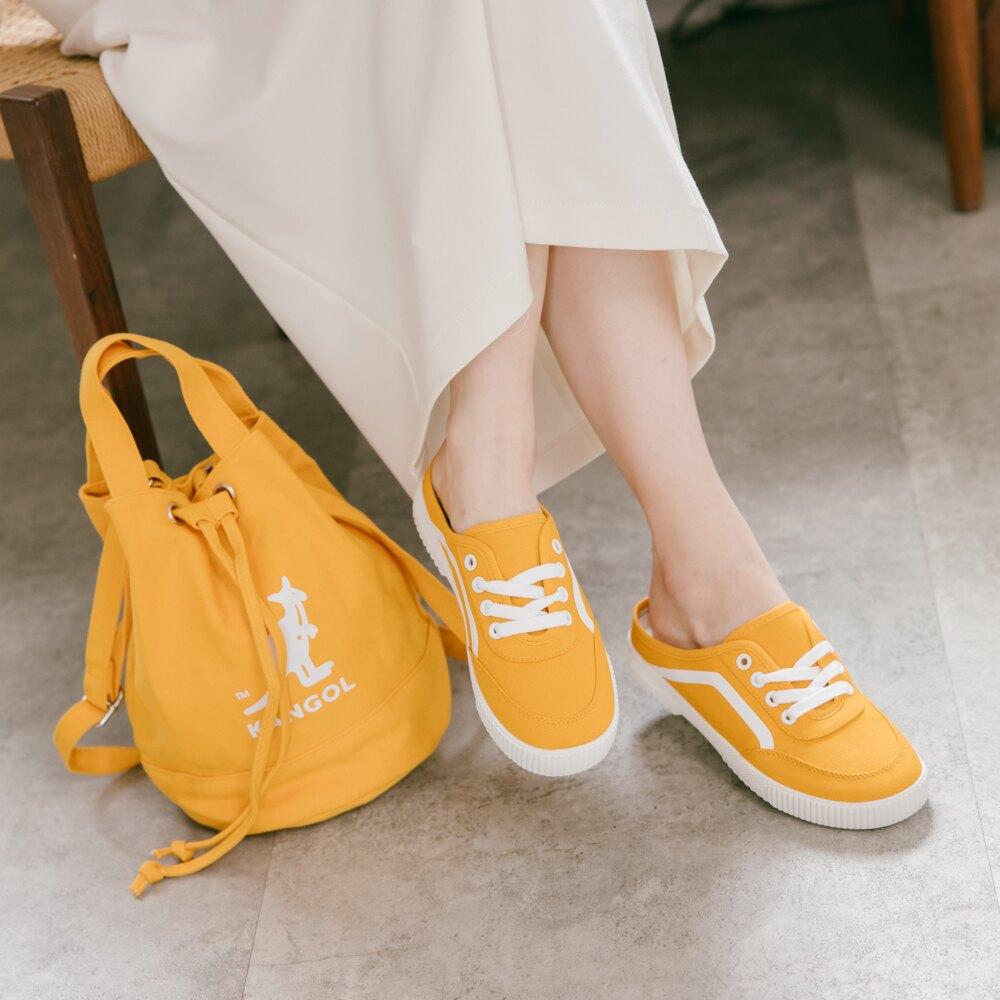 【限時8折】KANGOL 前包後空懶人鞋 黃 6022200360 女鞋