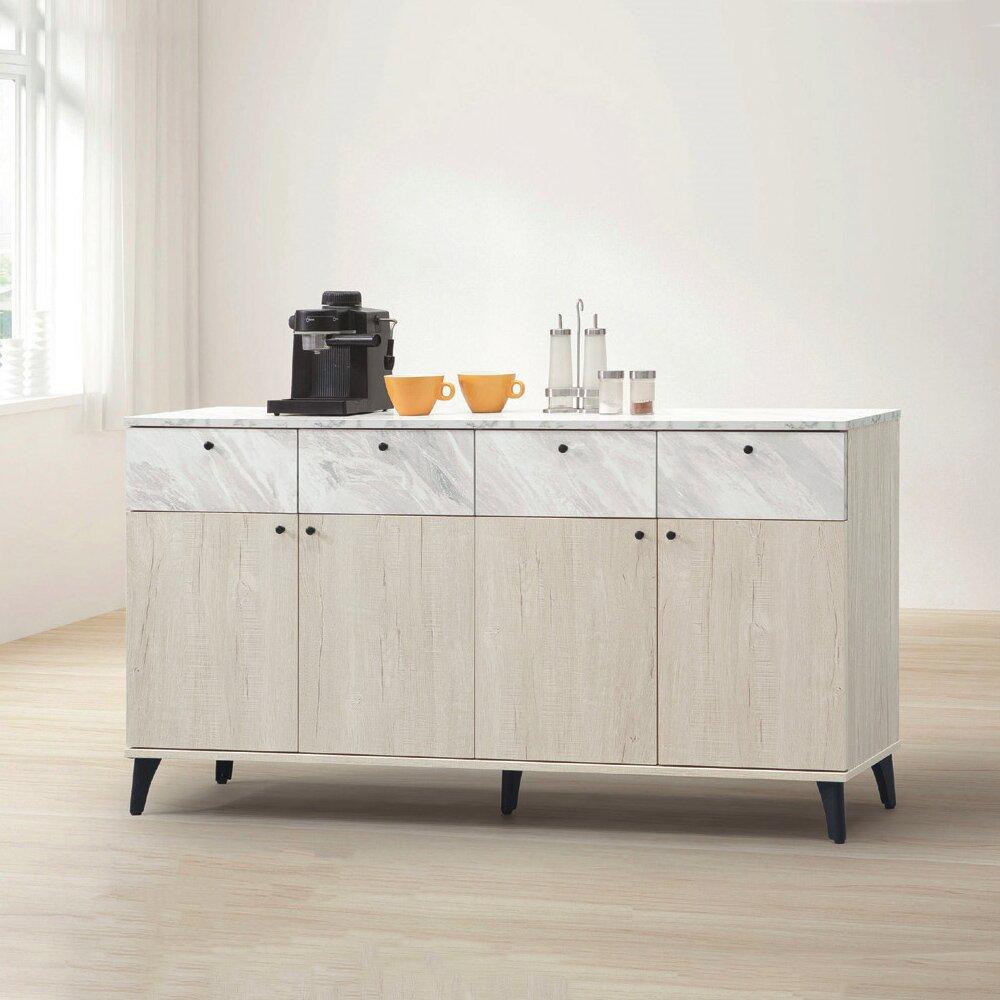 【MUNA】白橡色5尺餐櫃/碗盤櫃(下座)(B203)