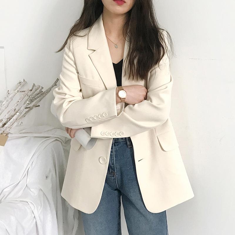 小西裝外套女新款2020韓版春秋休閒寬鬆網紅秋季西服上衣英倫風潮