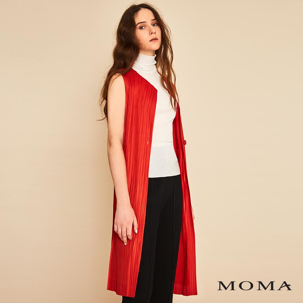 MOMA(01V003)壓褶長背心