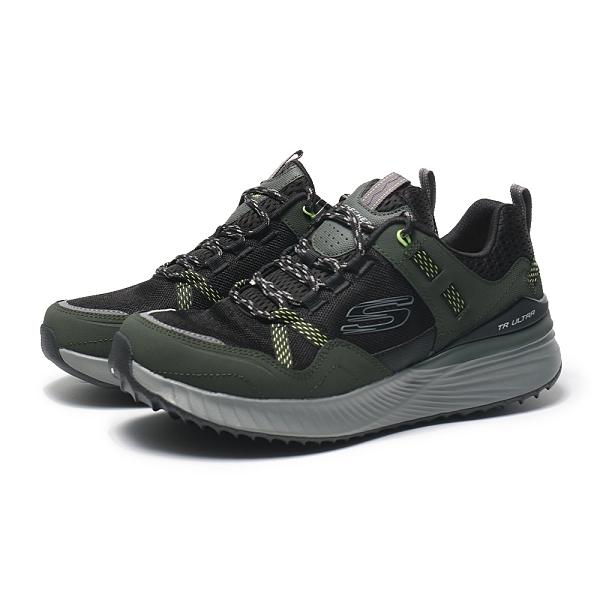 SKECHERS 休閒鞋 ULTRA FLEX TR 墨綠 黑 灰 防潑水 越野鞋 男 (布魯克林) 237032WOLBK