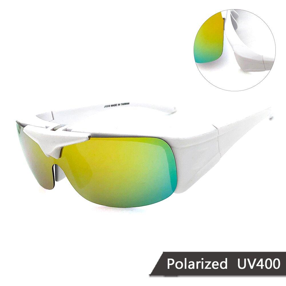 MIT上翻式偏光太陽眼鏡 閃耀酷炫白偏光墨鏡 抗UV/可套鏡(13816)