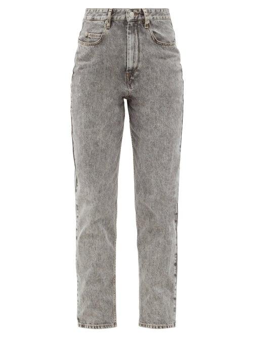 Isabel Marant Étoile - Corsysr High-rise Boyfriend Jeans - Womens - Grey