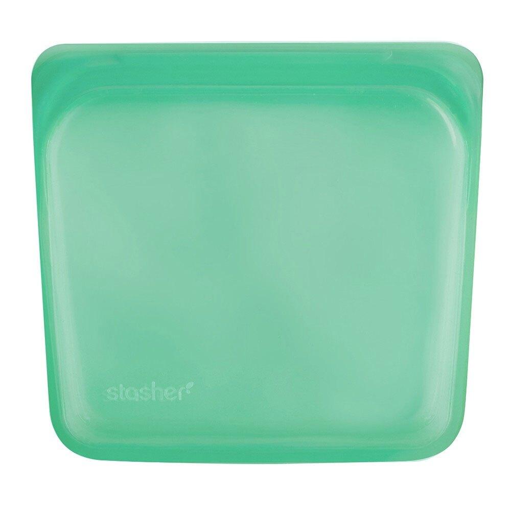 美國 Stasher 白金矽膠密封袋-方形碧綠
