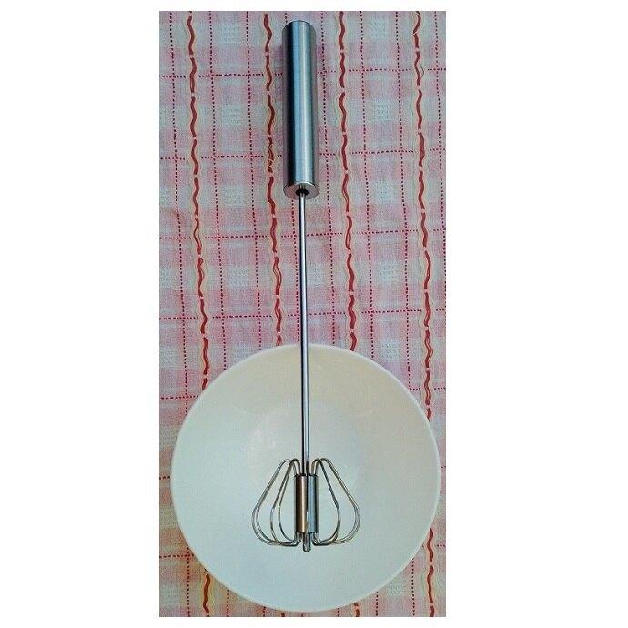 《省您錢購物網》 全新~304不鏽鋼半自動旋轉打蛋器(長度36cm)