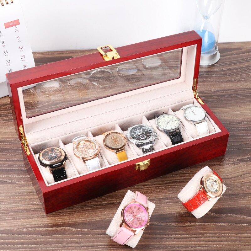 手錶盒 手錶盒收納盒子家用簡約高檔禮物包裝展示盒一體放眼鏡盒的墨鏡箱 交換禮物【DD30680】