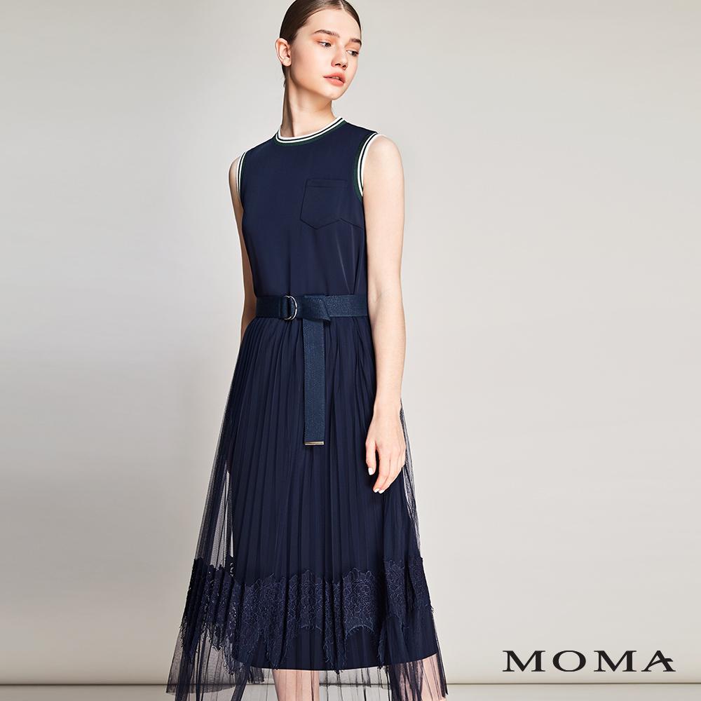 MOMA(01D014)運動網紗長洋裝