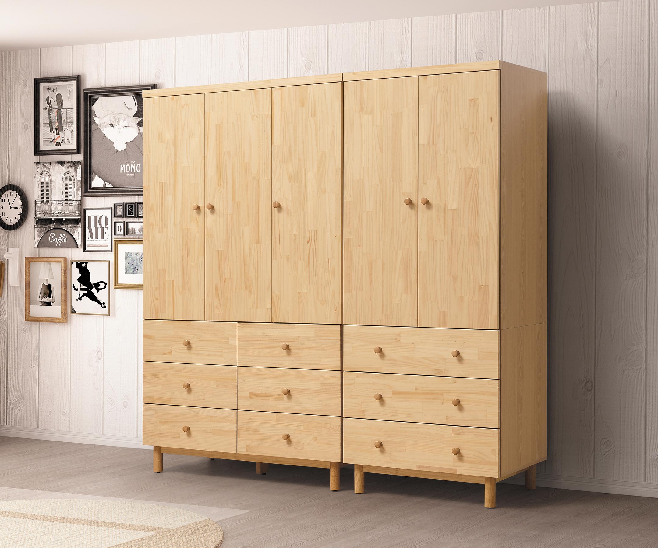 【尚品家具】HY-B156-01 哥本哈根實木7尺組合衣櫥