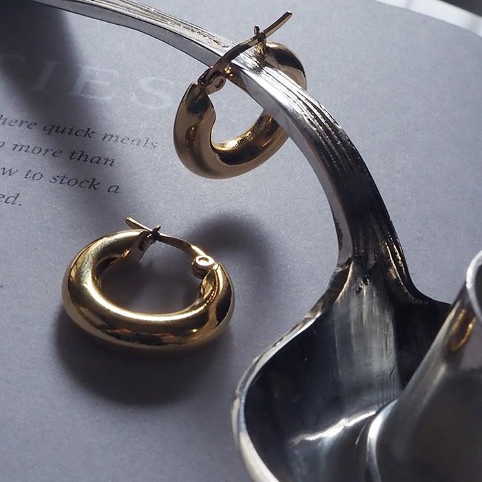 [鈦鋼.耳環] 5mm粗款圓圈耳環 男生耳環 極簡 第八章 韓國明星款 【CC107】