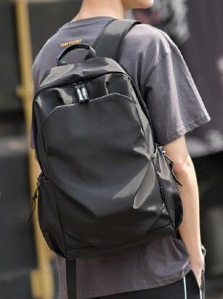 雙肩包男背包簡約時尚潮流大容量休閑旅行電腦包輕便大學生書包