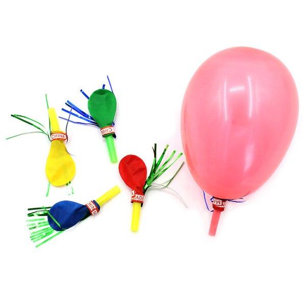 派對口哨氣球 復古慶生活動裝飾道具 喇叭哨子汽球 贈品禮品