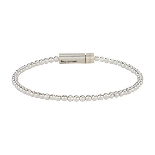 Bracelet beads le 11g silver 925 slick brushed