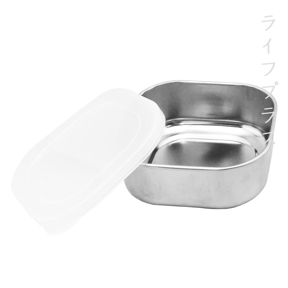 日本製 不鏽鋼保鮮盒-方型-小-10cm-380ml-2入