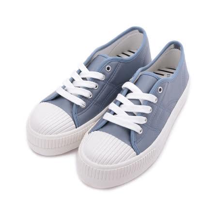 MY RABBIT 仿皮綁帶休閒鞋 灰藍 MT830A 女鞋