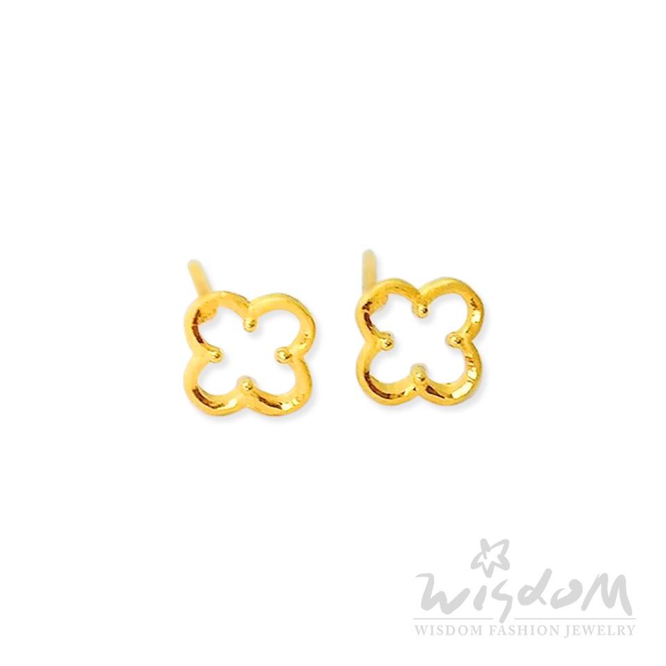 威世登 黃金花型貼耳式耳環 金重約0.24~0.26錢 GF00530-EEX-FIX
