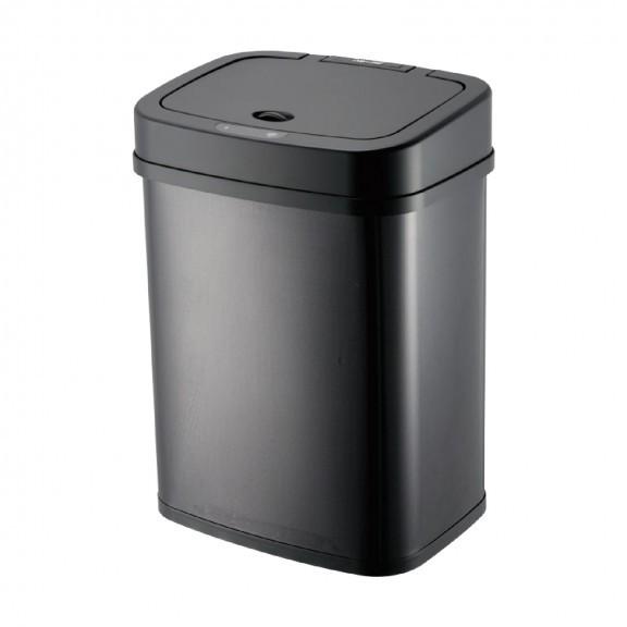 DAY&DAY日日~#430不鏽鋼電子感應自動環保桶-12L-黑V1012LG