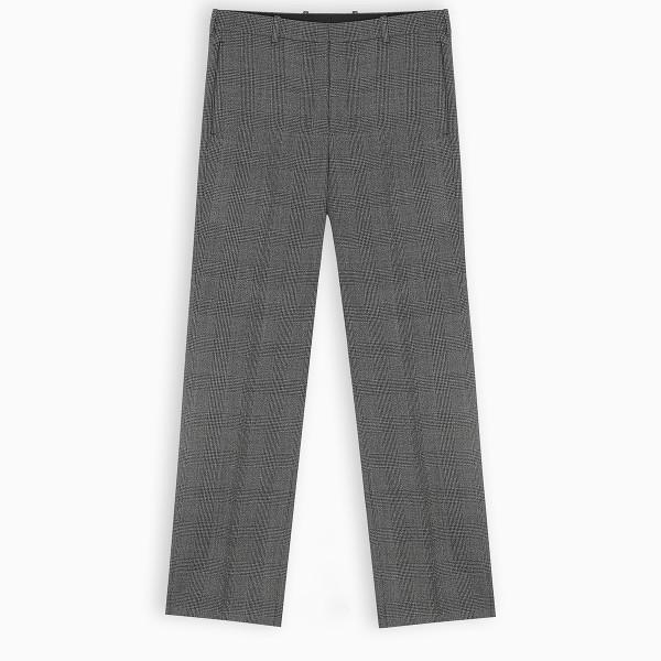 Balenciaga Grey checked trousers