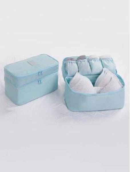 旅行內衣收納包便攜文胸內褲整理包旅游衣服收納袋行李袋雙層防水