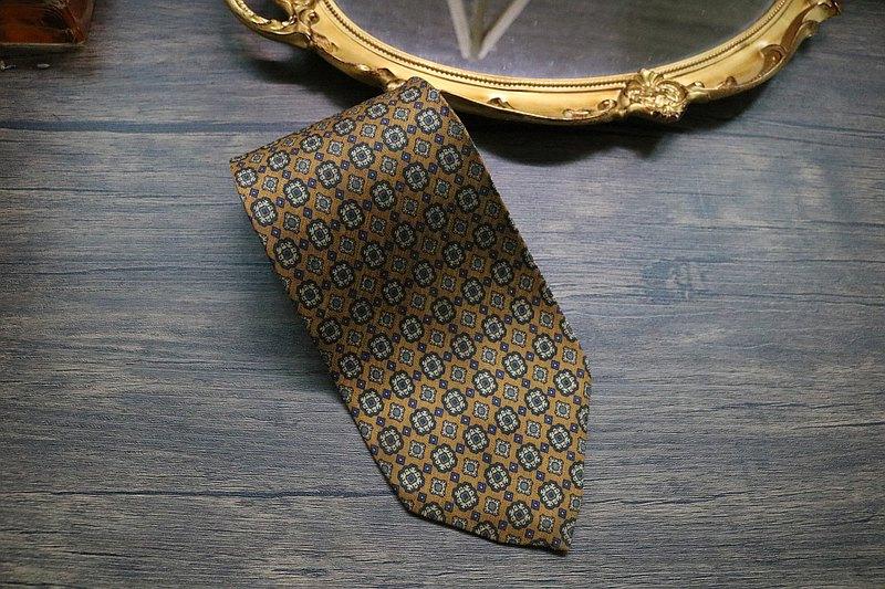 復古宮廷老花蠶絲商務領帶/型男雅致精緻小物