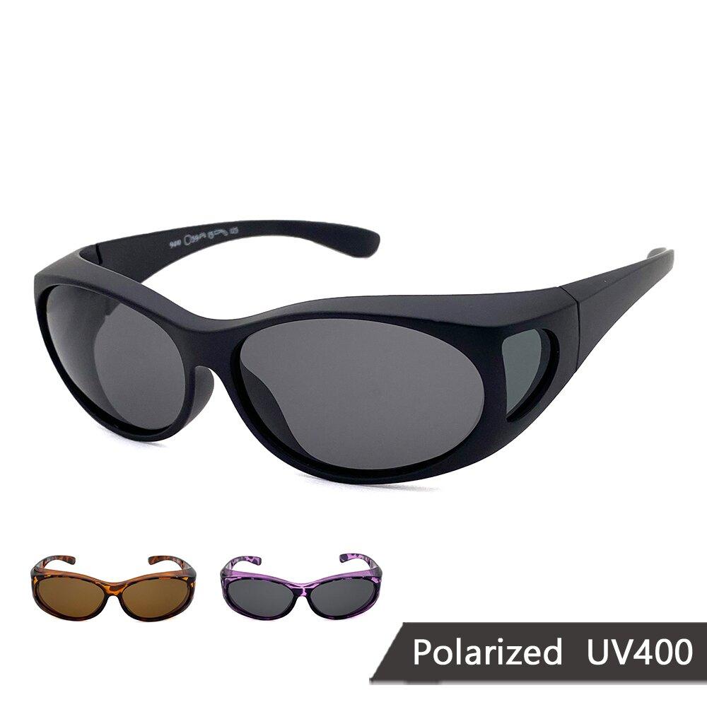 MIT偏光太陽眼鏡 橢圓框偏光墨鏡 抗UV/可套鏡(94810)