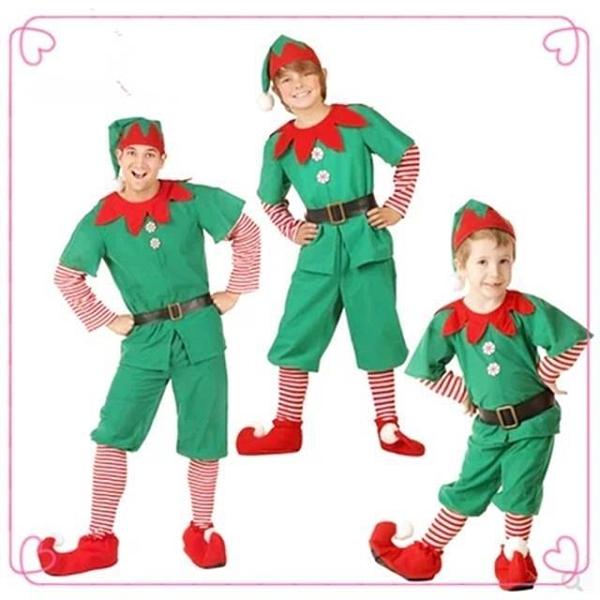 聖誕節演出服兒童服裝男女童成人裝扮表演服幼兒園衣服綠色精靈 【母親節特惠】