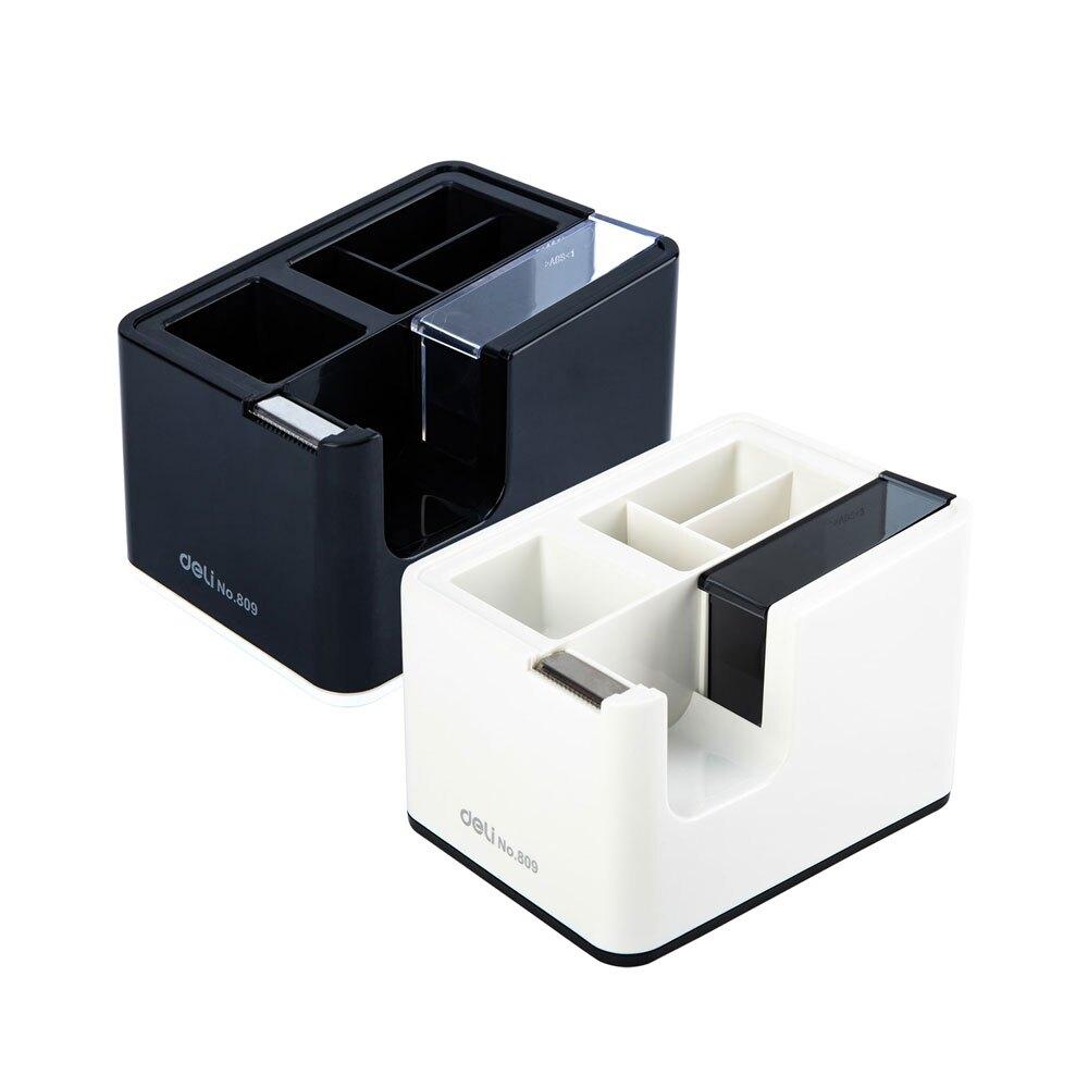 得力Deli 多功能膠帶台-顏色隨機(809)