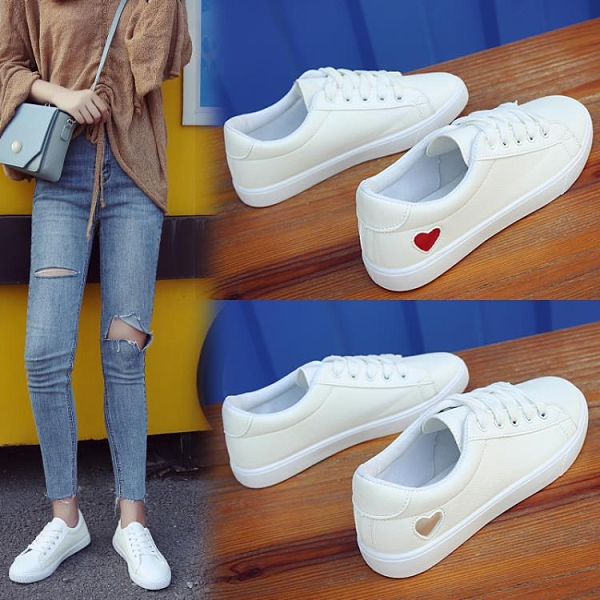 小白鞋 2021春季新款舒適小白鞋女鞋子韓版平底休閒板鞋百搭基礎學生白鞋 薇薇