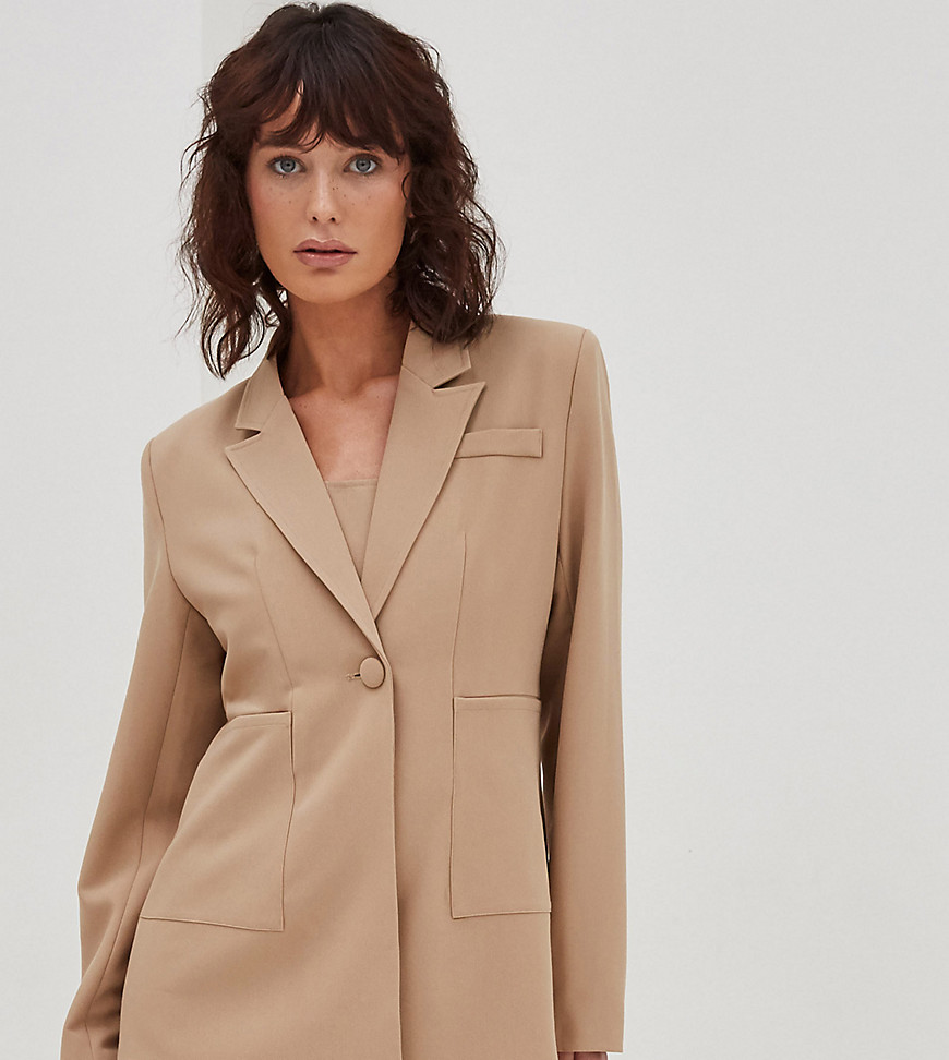 4th & Reckless Petite blazer in camel-Brown