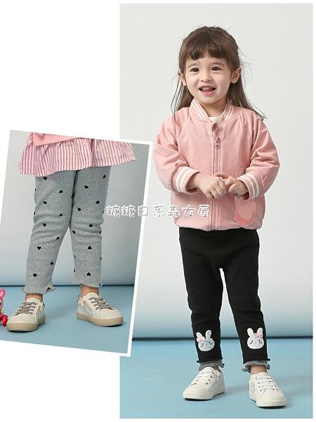 交換禮物女童加絨褲子小兒童洋氣寶寶冬季一體絨加厚秋冬裝外穿嬰兒