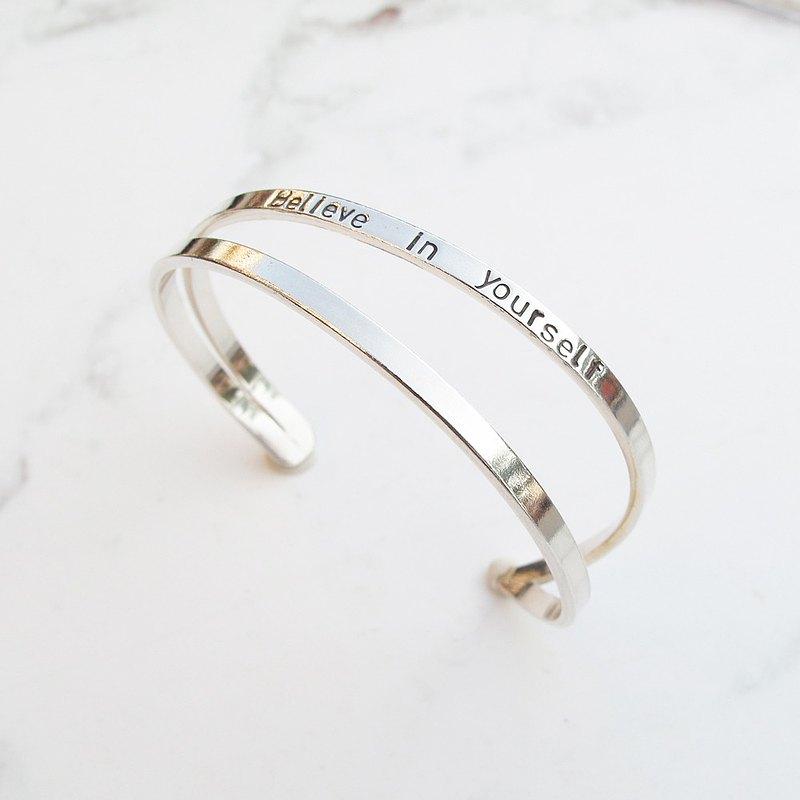 大員囡仔【DIY手工銀飾教學】簡約線條 純銀手環