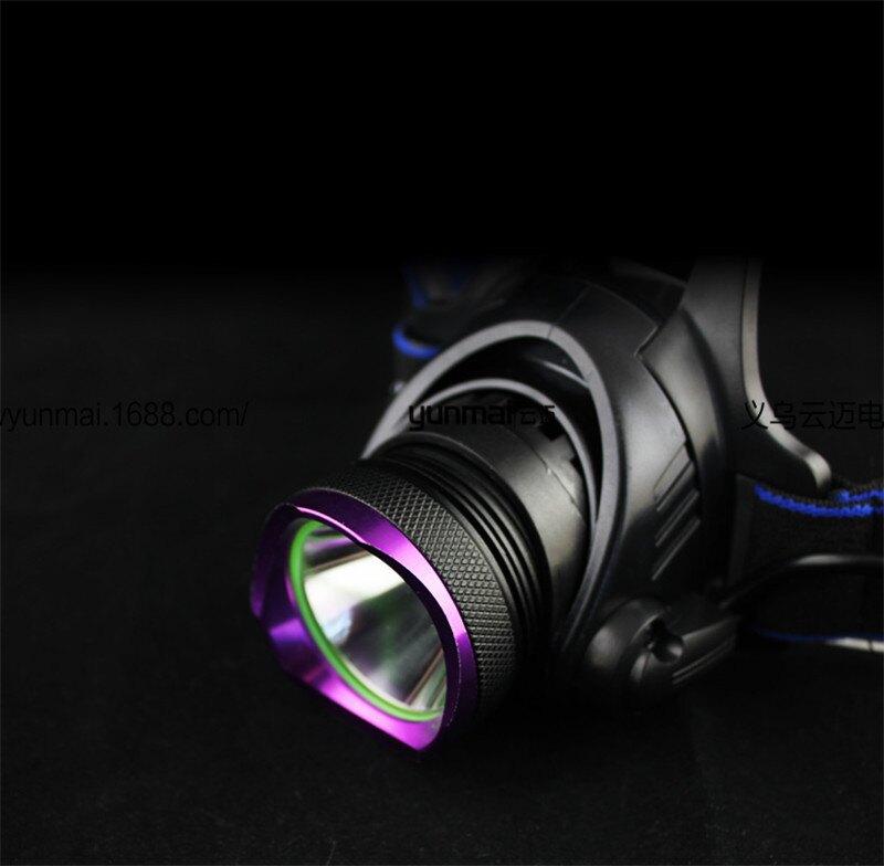 廠家批發 T6強光頭燈 新升級USB充電頭燈  戶外遠射釣魚燈 礦燈