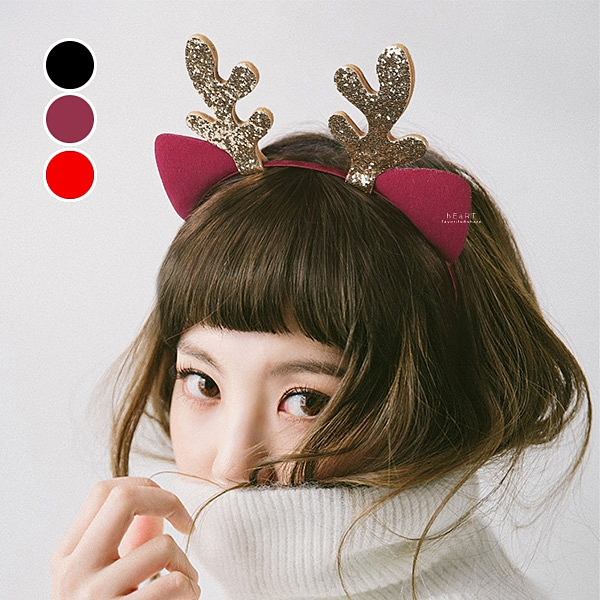 聖誕麋鹿造型髮箍 髮飾 髮箍 頭飾 聖誕髮箍