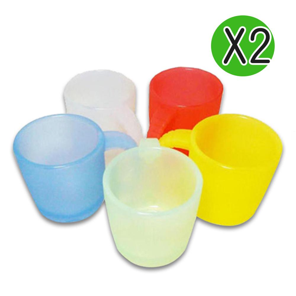 【Mrs.home】MIT環保無毒SGS認證安全矽膠提耳隨身杯2入