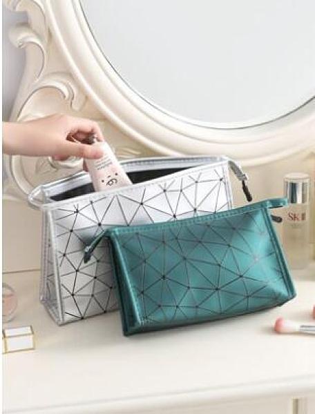 化妝包網紅ins風韓國簡約便攜化妝品收納袋手包式旅行收納包少女